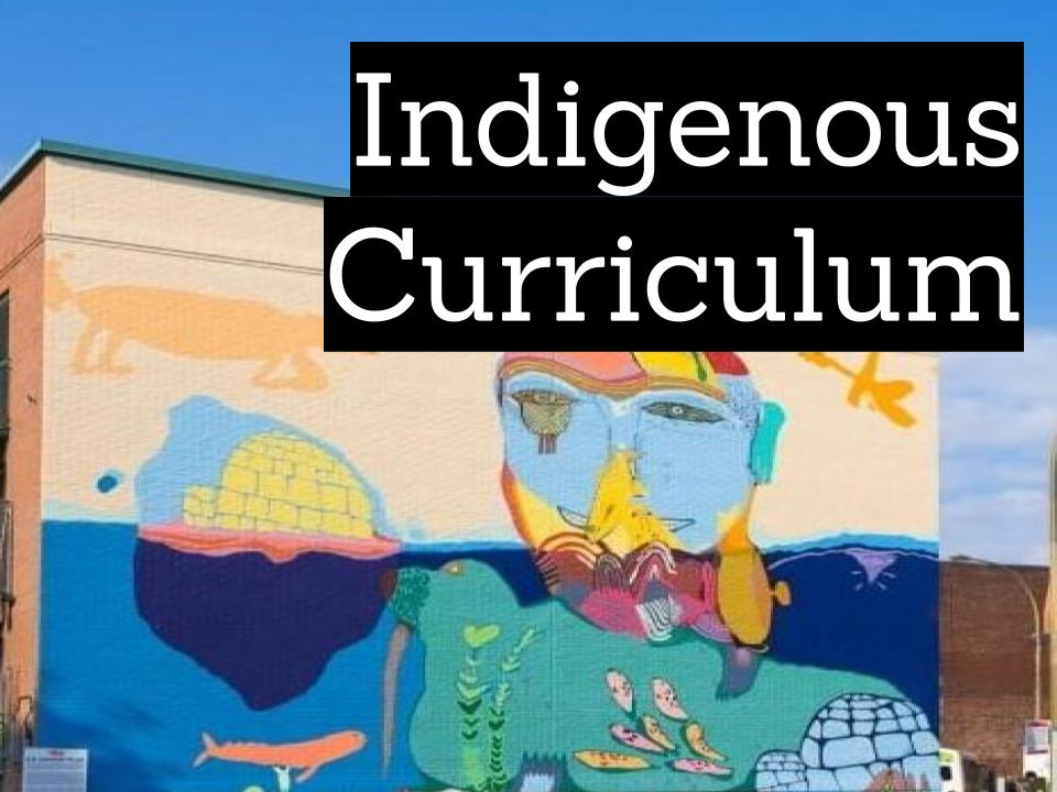 Indigenous curriculum