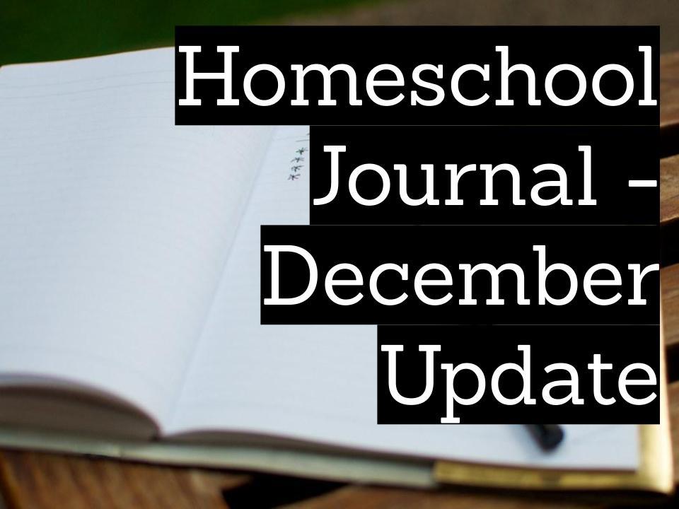 Homeschool journal – December update